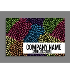 Beautiful company business card template vector