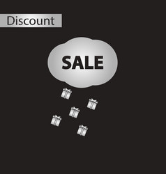 black and white style icon sale gift rain vector image vector image