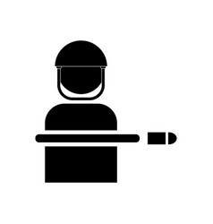 Black icon on white background bullet wounded vector