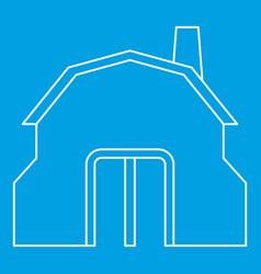 Blacksmith workshop building icon outline vector