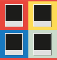 Blank photoframes on four different backgrounds vector