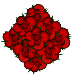 Bouquet of red roses icon vector