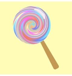 Bright lollipop vector