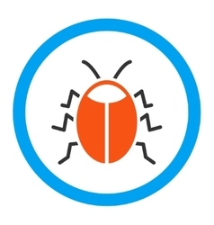 Bug rounded icon vector