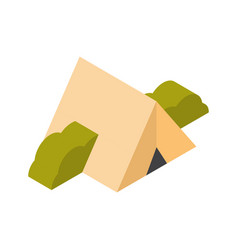 Camping tent icon 3d isolated active travel vector
