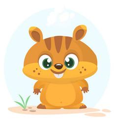 Cartoon marmot icon vector