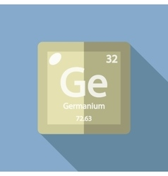 Chemical element Germanium Flat vector image vector image