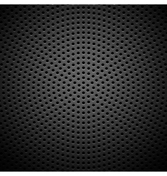 Circle Perforated Carbon Speaker Grill Texture vector image vector image