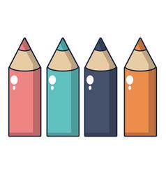 colored pencils icon cartoon style vector image