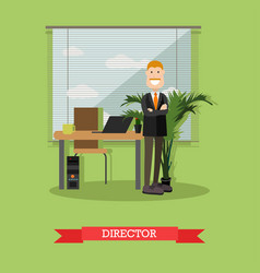 creative director in flat vector image vector image