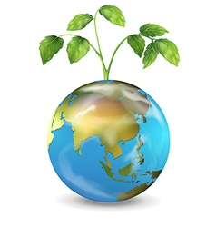 Earth growing plant vector