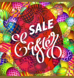 Easter egg sale banner background template 23 vector
