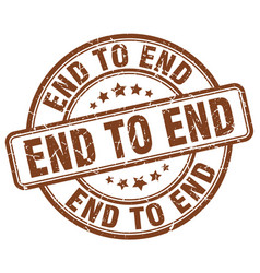 End to end brown grunge stamp vector