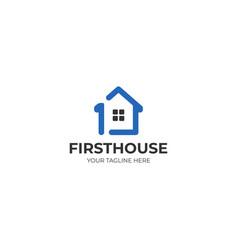 First house logo template vector