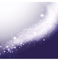 Glittering stars holiday background vector