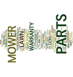 Lawn mower parts text background word cloud vector