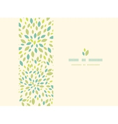 Leaf texture horizontal frame seamless pattern vector image