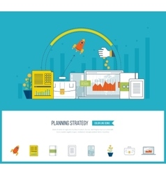 Planning strategy and project management concept vector image vector image