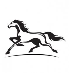 running stallion vector image vector image