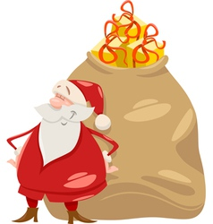 santa with gifts cartoon vector image vector image