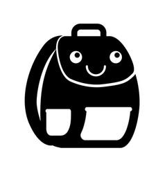 School bag kawaii character vector