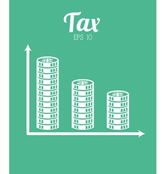 tax icon vector image