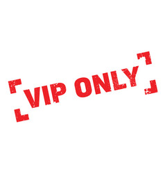vip only rubber stamp vector image vector image