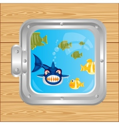 Window in ocean vector image vector image