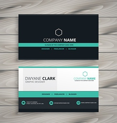 Dark business card modern design vector