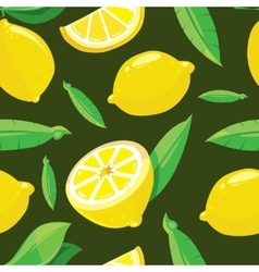 Seamless pattern with lemon slices vector