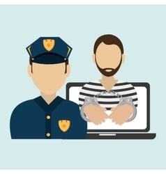 Police criminal burglar design vector