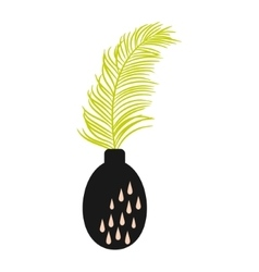 Palm branch in a vase vector