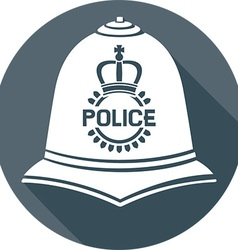 British police helmet icon vector