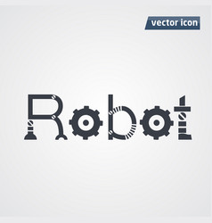 Robot letters vector