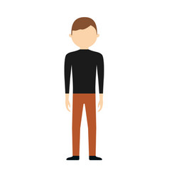 character man male design vector image