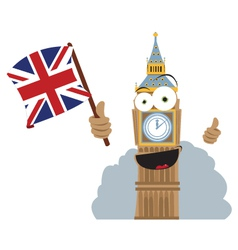 Funny big ben vector