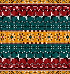 Balkan style ethno country carpet vector