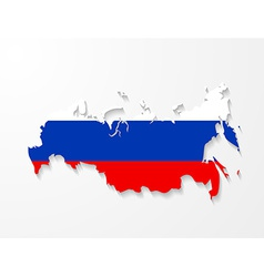 Russia map with shadow effect presentation vector