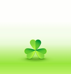 Shamrock clover on beautiflul wallpaper vector image