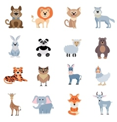 Wild and home animals set vector