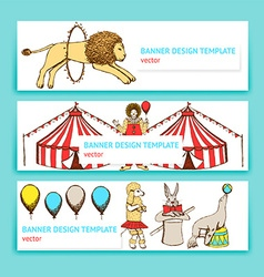 Sketch circus in vintage style vector