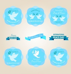 Peace day badges vector