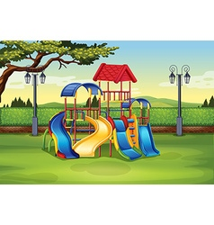 Playhouse in the middle of the park vector