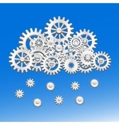 Mechanical gears cloud vector