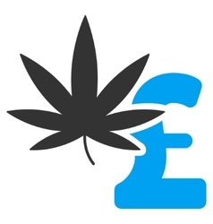 Marijuana pound business flat icon symbol vector