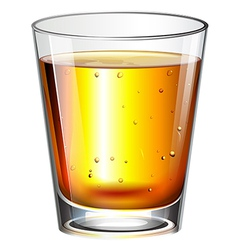 A glass of cocktail drink vector