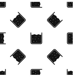 Beaker filled with liquid pattern seamless black vector
