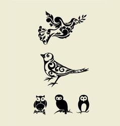Bird set vector