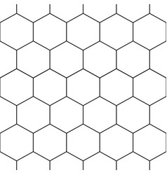 black honeycomb hexagon seamless on white vector image vector image