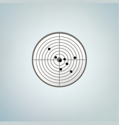 Bullets target with holes color vector
